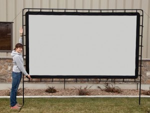 Camp Chef OS120L 120-Inch Backyard Big Indoor Outdoor Portable Movie Projection Screen