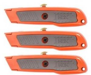 HDX 3-Piece Retractable Utility Knife Set