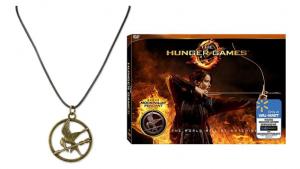 Hunger Games DVD + Mockingjay Pendant