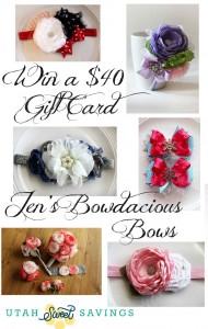 Jen's Bowdacious Bows Giveaway