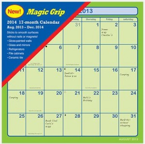 adhesive wall calendar