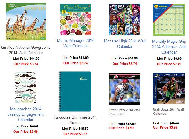 calendars 75 off sale