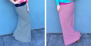 candystripe maxi skirt