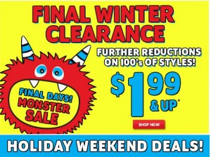 children's place winter clearance holiday weekend