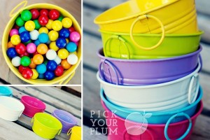 colorful tins