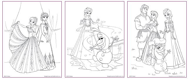 FREE Frozen Printable Coloring Activity Pages Plus