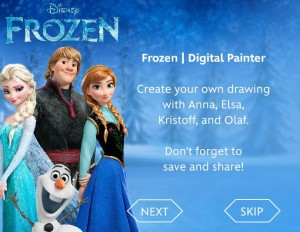 frozen digital paper 300x232 FREE Frozen Printable Coloring & Activity Pages! Plus FREE Computer Games!