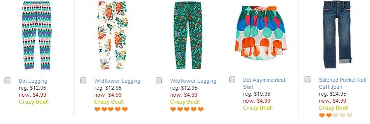 girls leggings and pants