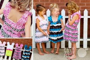 girls ruffle dresses