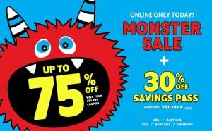 monster sale children's place