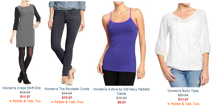 old navy women's clearance