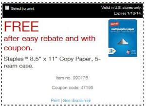 staples free case of paper