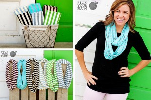 striped infinity scarves