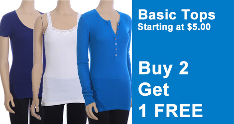 tagunder buy 2 get 1 free basic tops