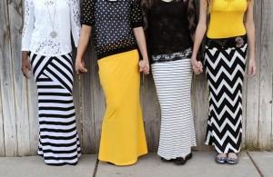 trendy maxi skirts