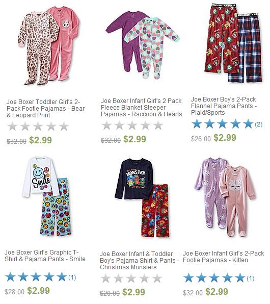 Joe Boxer Pajamas 2-Packs