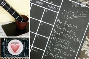 chalkboard meal planners and placemats