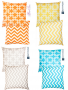 chevron and chain link accent pillow covers