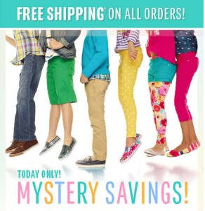 childrens place free shipping mystery savings