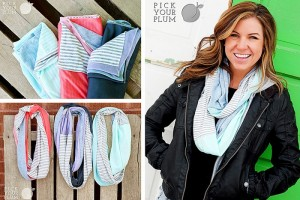 color block infinity scarves