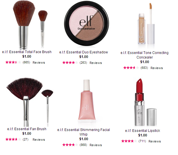 elf cosmetics $1 deals