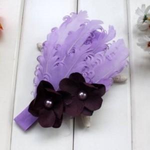 light purple feather baby headband