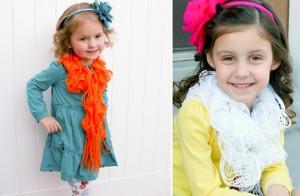 little girls fringe scarves