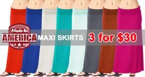 maxi skirt blowout