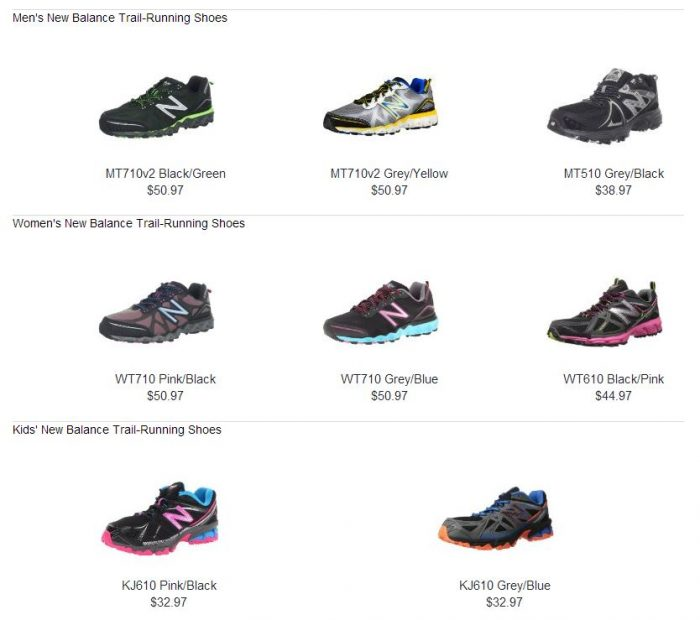 9405a662241c8 New Balance Trail Running Shoes for 40% Off! Men, Women, Kid Shoes ...