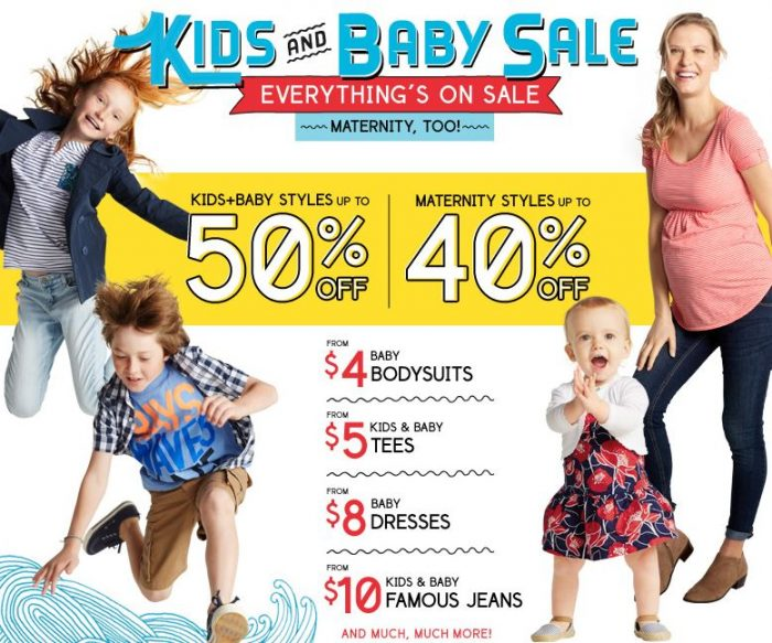 old navy baby and kid sale Old Navy: 50% off Kids & Baby!