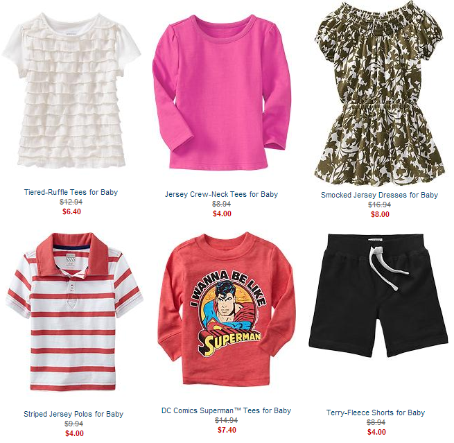 old navy baby and kids sale1 Old Navy: 50% off Kids & Baby!
