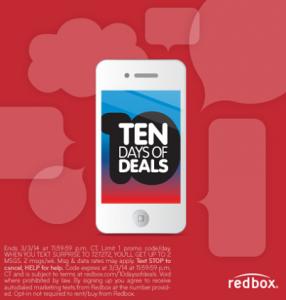 redbox ten days of deals