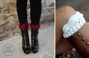ruffle knit boot cuffs