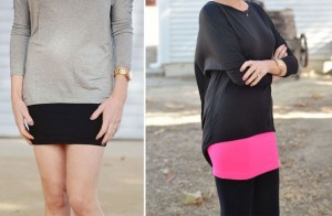 solid layering skirts