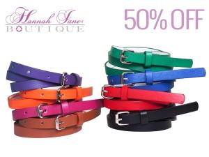 spring skinny belt sale