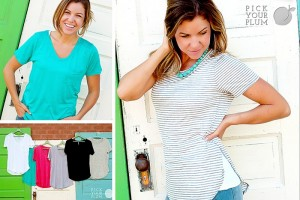 vneck or round neck tees