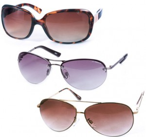 3 Pack Of Assorted Name Brand Ladies Sunglasses