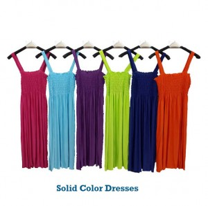 5 Pack of Summer Cover-up Dresses - Solid Color