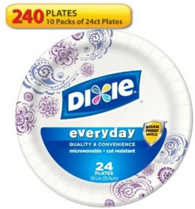 Dixie HD Paper Plates, 10 Inches, 240 Count