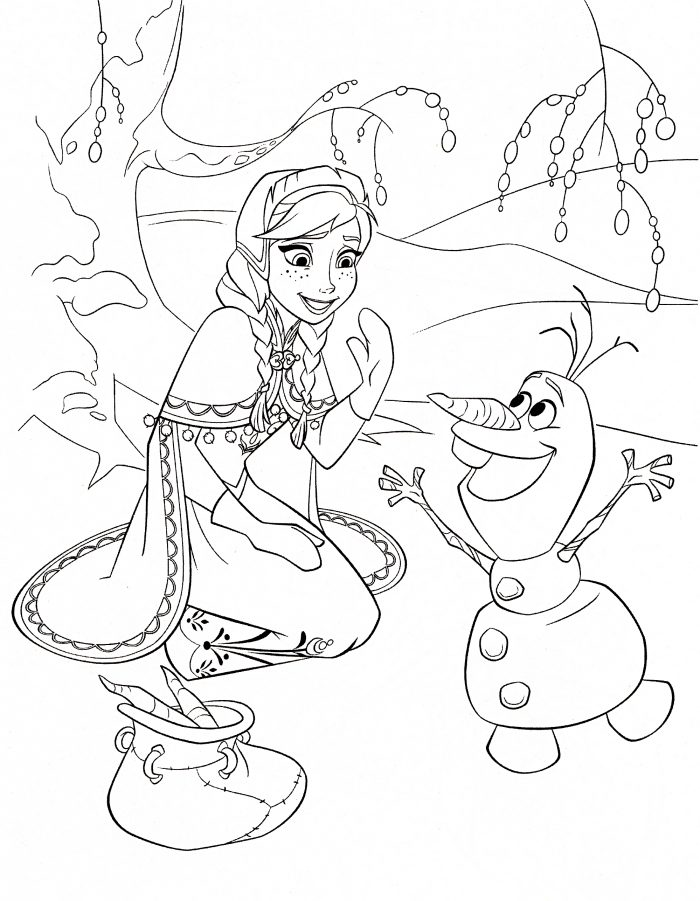 Coloring pages frozen -  Frozen Coloring Page Anna Olaf