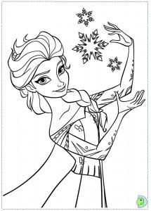 Frozen Coloring Page Elsa