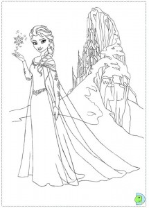 Frozen Coloring Page Elsa Castle