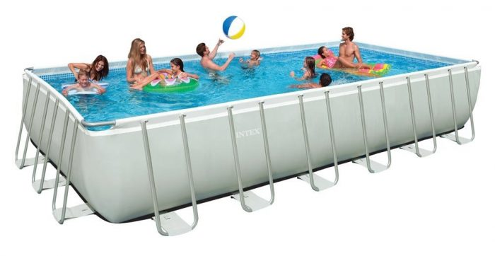 Intex Rectangular Pool Rectangular Ultra Frame Pool Set, 24 Feet by 12 Feet by 52 Inch $899.99 (Reg $1,599.99)