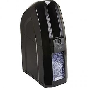 Staples Space-Saver 10-Sheet Cross-Cut Shredder, Black