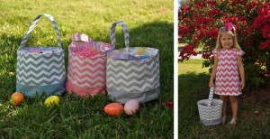 chevron easter baskets 300x154 Chevron Fabric Easter Baskets for $8.99!