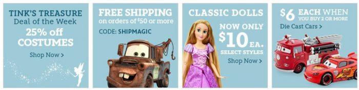 disneystore classic dolls costumes
