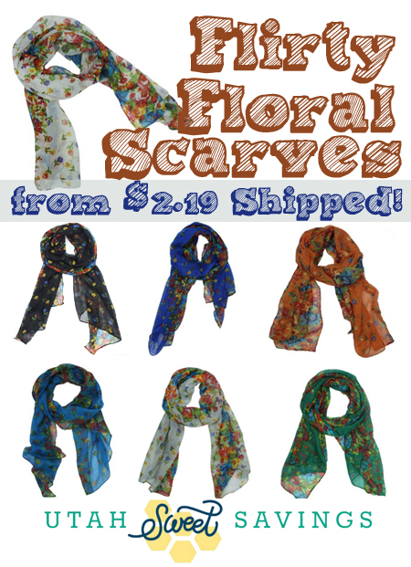 flirty floral scarves Flower Blossom Scarves for as low as $2.19 Shipped!