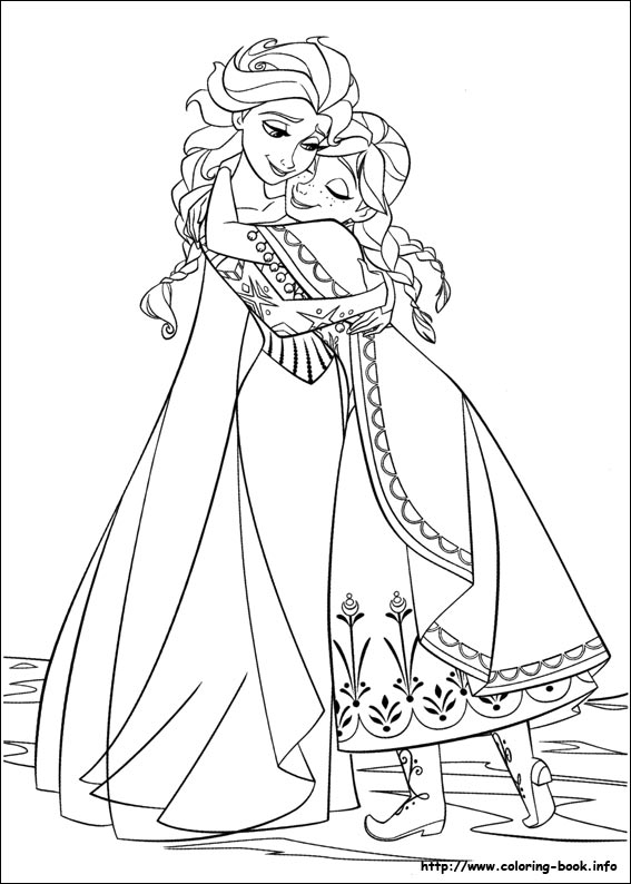 Anna Elsa Frozen Coloring Coloring Pages Elsa Frozen Coloring Pages