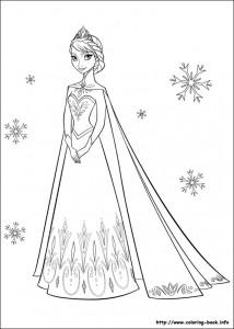 frozen coloring page elsa 2