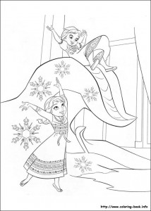 frozen coloring page kids